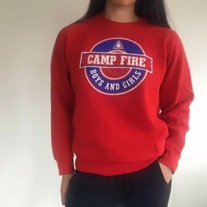 Vintage | Camp Fire Crew Neck Sweatshirt